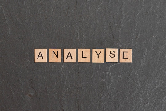analyse written with game tiles