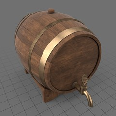 Beer barrel with tap 2