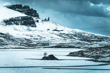 Ice cold January day at the old man of storr