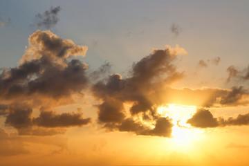 Beautiful sunset and sunrise sky