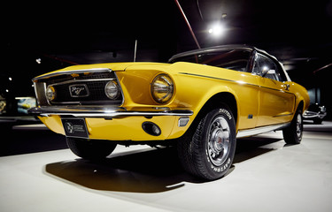 Ford Mustang, an American classic. Classic Car exhibition - Heydar Aliyev Center, Baku, Azerbaijan - 26,04,2017