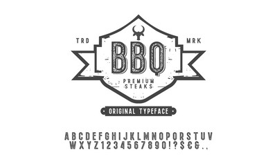 BBQ font and alphabet.