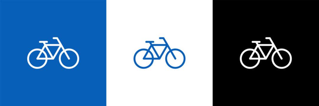 bicycle vector logo design template line flat  element walk eco transport.