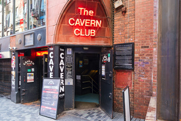 The Cavern Club in Liverpool, where The Beatles popularity started