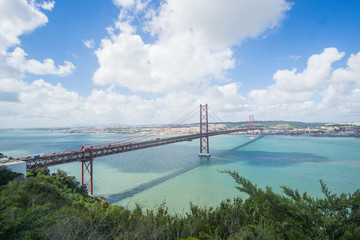 Stunning pictures of the Ponte 25 de Abril bridge - Over 2km-long, this striking Golden Gate-style bridge links Lisbon with Almada in Portugal.