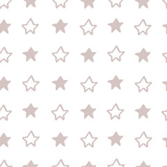 Absctract nordic trandy pattern with stars for decoration interior, print posters, greating card, bussines banner, wrapping in modern scandinavian style in vector. Pastel color.