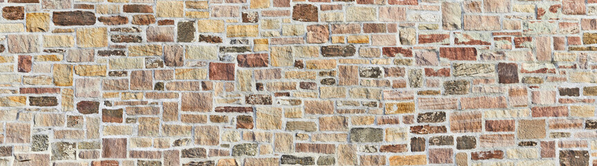 Beautiful natural stone wall in poster size