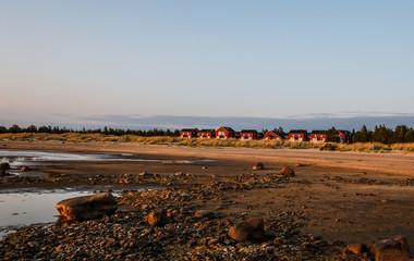 Haliuoto domki na wyspie
