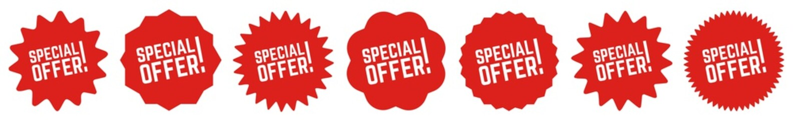 Special Offer Tag Red | Sale Icon | Sticker | Deal Label | Variations