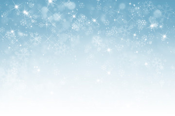 abstract winter background with snowflakes Fototapete