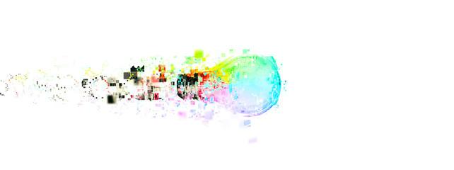 抽象的でカラフルな電球 Fototapete