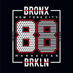 bronx  typography tee graphic design for t-shirt,vector illustration
