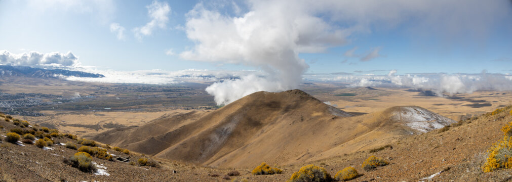 Clouds Surrounding Winnemucca Mountain Nevada