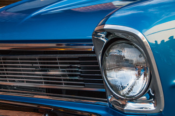 Foto op Canvas Vintage cars Closeup of a vintage car at a show in Denver Colorado