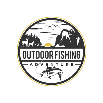 Outdoor fishing nature wildlife mountain element