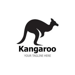 Kangaroo Logo Template vector illustration simple
