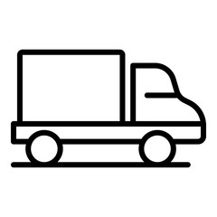 Delivery truck icon. Outline delivery truck vector icon for web design isolated on white background