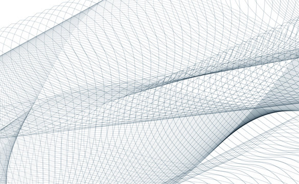 Abstract gray ribbon on a white background. Vector illustration EPS 10.