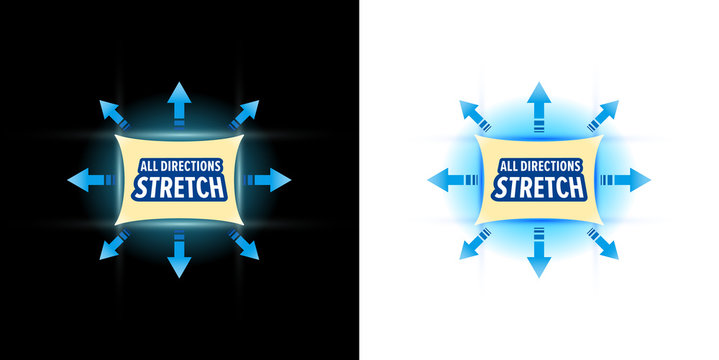 Stretch material vector illustration. Black and white background.