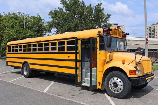 School bus in the parking lot