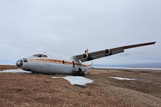 Abandoned crashed plane