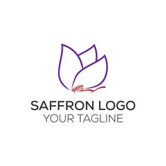 saffron logo , flower of saffron