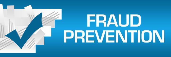 Fraud Prevention Blue Background White Stroked Stripes