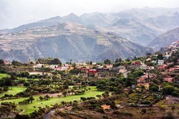 Golfplatz bei der Caldera de Bandama auf Gran Canaria