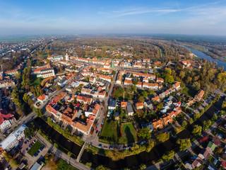 Fototapeta Pułtusk, widok na miasto z lotu ptaka obraz