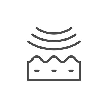 Wrinkle smoothing line outline icon