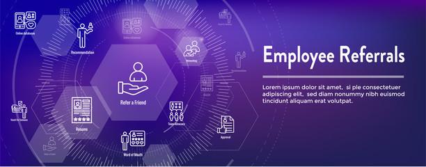 Employee Referrals Icon Set & Web Header Banner