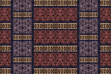 Brown pattern of an ethnic fabric