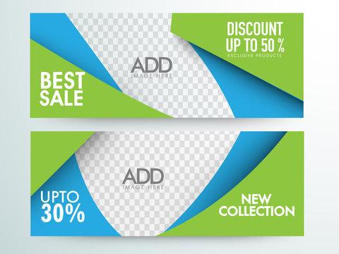 Best Sale web headers or banner design.