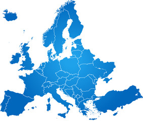 Obraz map of Europe - fototapety do salonu