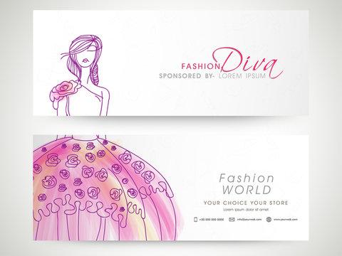 Fashion World website headers set.