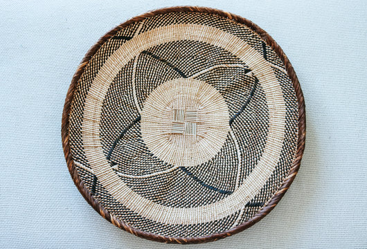 African style woven basket