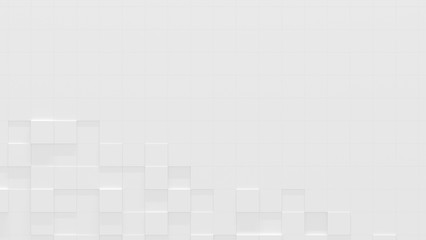 White Business Style Background with Copy Space (3D Illustration)