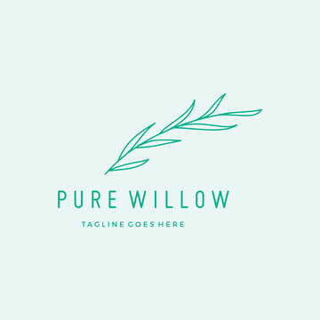 Willow Leaves Spa logo vector icon illustration
