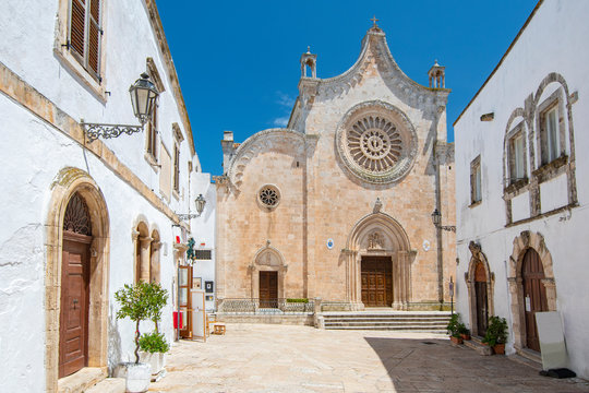 Ostuni Cathedral (Basilica of Santa Maria Assunta), roman catholic cathedral in Ostuni, province of Brindisi, Apulia, Italy.