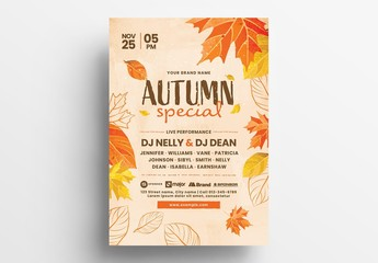 Autumn Event Flyer Layout