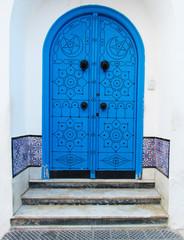Tunisian blue door