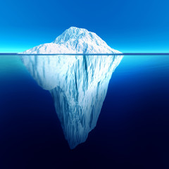 Iceberg extremely detailed and realistic high resolution 3d illustration