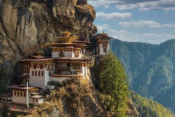 Foto op Plexiglas Boeddha Tiger's nest Temple or Taktsang Palphug Monastery (Bhutan)