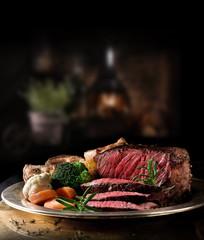 Rustic Rare Roast Beef