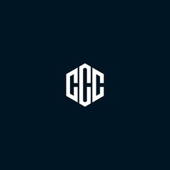 CCC logo icon design vector