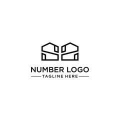 Number 22 Logo Vector Design Template