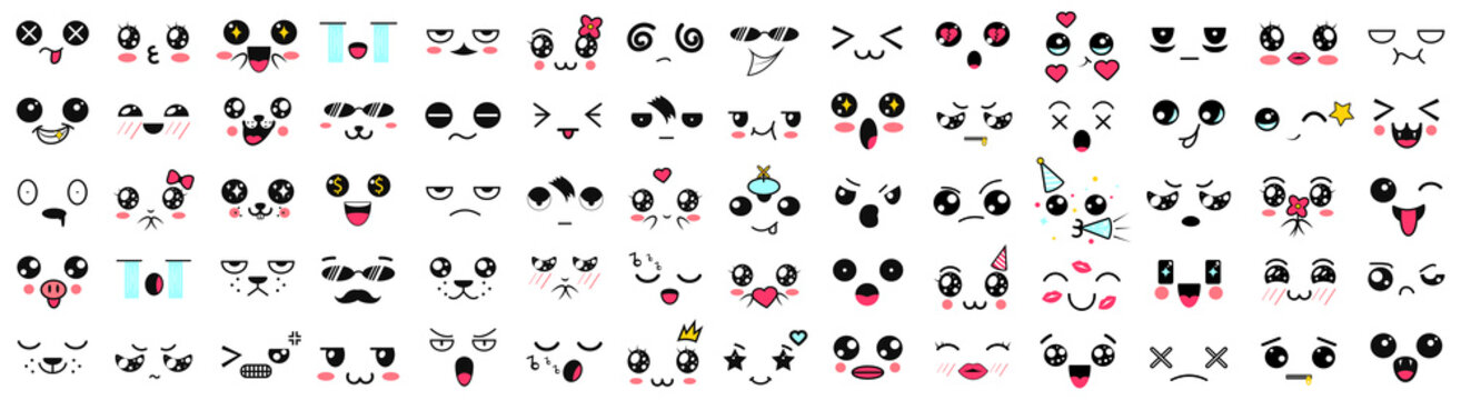 adorable, animal, anime, art, avatar, big set, cartoon, character, chat, collection, comic, concept, crazy, cry, cute, design, doodle, emoji, emoticon, emotion, expression, face, feeling, fun, funny,