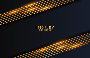 Luxury elegant background with gold lines composition and luster effect. Business presentation layout