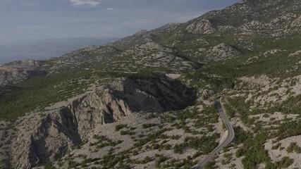 Wall Mural - Scenic Croatian Landscape. Adriatic Sea and the Coastal Mountains. Northern Croatia.