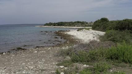 Wall Mural - Adriatic Sea Summer Destination. Northern Croatia, Europe. Pug Island.